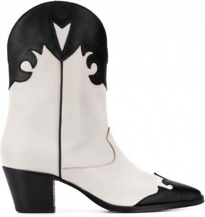 r13 wit cowboy laarzen