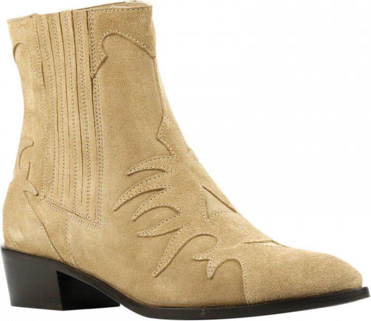 Toral Dames Enkellaarsjes Beige 10770 suede | Shoe Club