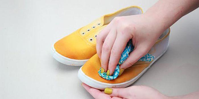 Dip-dye sneakers