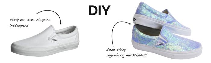 DIY regenboog slip-ons in 10 stappen!