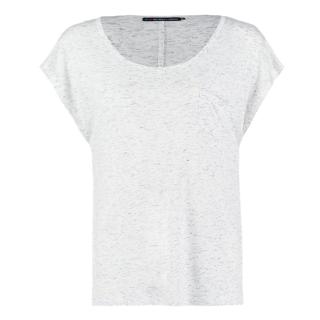 T-shirt wit gemêleerd