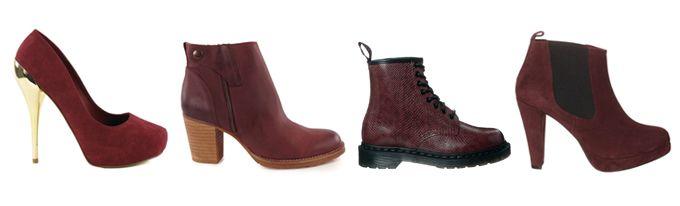 bordeaux rode schoenen dames